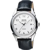 epos 午夜巴黎 奧斯卡復古機械腕錶-銀x黑/40mm 3427.130.20.58.25FB