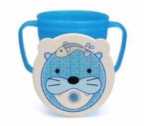 『121婦嬰用品館』愛兒房 愛迪生防漏吸管握把水杯250ml-藍海獅