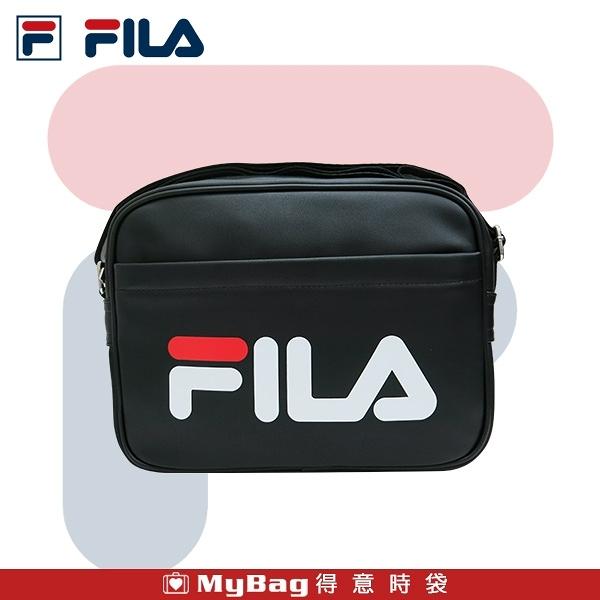 FILA 側背包 中側背書包 肩背包 休閒側背包 斜背包 黑色 BMU-3043 得意時袋