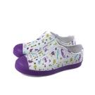 native JEFFERSON PRINT 懶人鞋 洞洞鞋 白/紫 海底生物 中童 童鞋 12100101-8968 no051
