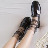 2雙裝日系閃亮水鉆透明網紗堆堆襪超薄中筒襪短襪【聚寶屋】