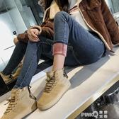 2020冬季新加絨加厚保暖高腰牛仔褲女韓版大碼顯瘦百搭小腳長褲子  (pink Q時尚女裝)