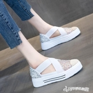 漁夫鞋 2020年夏季新款一腳蹬網紅時尚休閒漁夫鞋透氣鏤空包頭小白涼鞋女