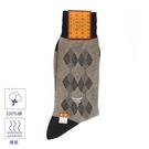 MCM斜紋雙菱格紋紳士襪(黑褐色)980199