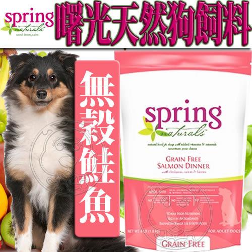 【zoo寵物商城】曙光Spring Natural》天然無穀鮭魚狗糧狗飼料-4lb