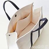 帆布包 上班帆布包女2021新款手提職業辦公大學生筆記本書包大容量公文包 coco