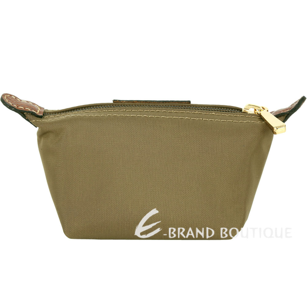 LONGCHAMP Le pliage 水餃型零錢包(橄欖綠) 1620618-38