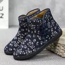 老北京布鞋短靴防滑中老年女棉鞋高筒保暖鞋加絨媽媽鞋盤扣時尚雪地靴