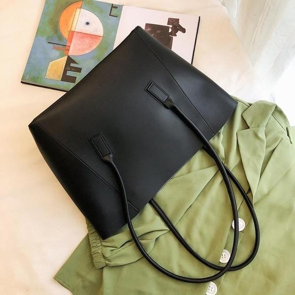 簡約女士側背大包包流行新款潮時尚網紅大容量百搭手提托特包
