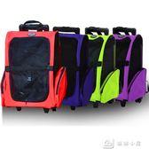 寵物雙輪雙拉桿箱包 便攜包寵物包 狗狗包寵物外出包 雙肩包背包 igo娜娜小屋