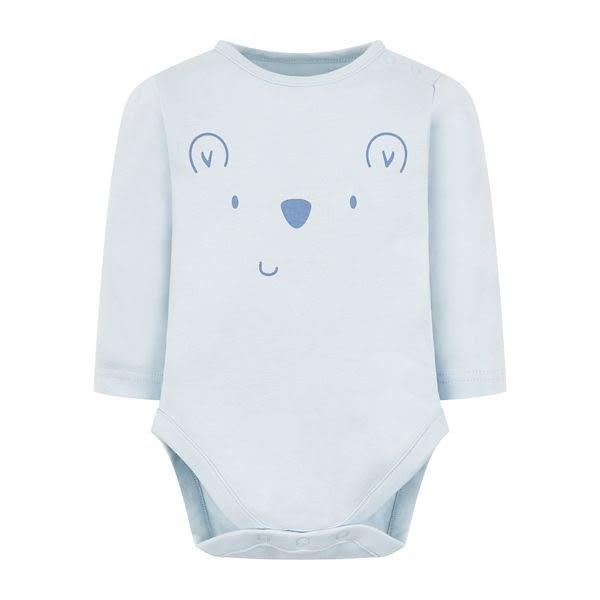 mothercare 藍色熊長袖包臀衣-可愛小熊(M0QD665)03M~24M