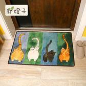 可愛貓咪日式地墊 入戶門墊進門客廳地毯臥室腳墊門墊浴室防滑墊 芥末原創