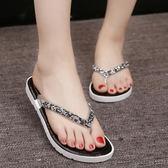夏季人字拖女士時尚拖鞋女韓版平底鞋外穿涼拖夾腳拖鞋厚底沙灘鞋