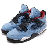 Travis Scott X Air Jordan 4 Cactus Jack Houston Oilers 喬丹4代 男鞋 【PUMP306】 308497-406