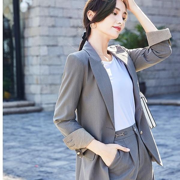 配色反摺袖休閒搭配外套[21S181-PF]美之札