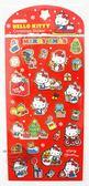 【金玉堂文具】三麗鷗貼紙 HELLO KITTY耶誕金邊貼 日本正版授權 聖誕裝飾 卡片佈置 凱蒂貓SR-ST155