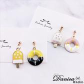 現貨 韓國少女可愛冰棒甜甜圈不對稱925銀針耳環 夾式耳環 S93414 批發價 Danica 韓系飾品