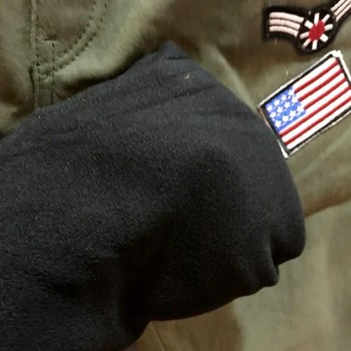 ☆棒棒糖童裝☆(566292)秋冬男童鬆緊腰厚款內刷毛口袋星星國旗彈力長褲 5-15 藍色;綠 色