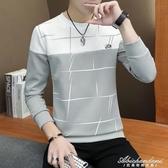 男士長袖t恤圓領新款衛衣韓版潮流薄款秋季潮牌男裝上衣服 黛尼時尚精品