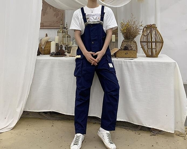 FINDSENSE H1 2019 春季 新款 韓國 古  吊帶褲 背帶褲 寬鬆