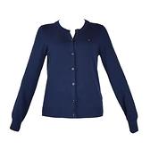 【南紡購物中心】Tommy Hilfiger 經典刺繡標誌圓領排釦長袖針織衫-藍