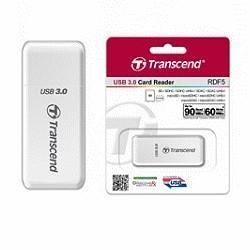 TRANSCEND 創見F5 USB3.0Card Reader白色 (TS-RDF5W)