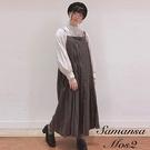 「Winter」打褶剪裁後綁結細肩帶洋裝 (提醒 SM2僅單一尺寸) - Sm2