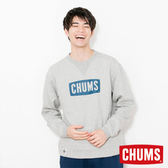 CHUMS 日本 男 LOGO 圓領套頭衫 淺灰 CH001086G005