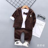 男童禮服 小西裝套裝英倫西服外套2019新款春款寶寶花童禮服 BF22584【旅行者】