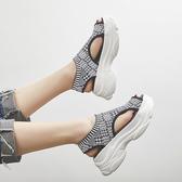 厚底涼鞋運動涼鞋女夏季韓版百搭鬆糕厚底時尚休閒沙灘鞋春季特賣