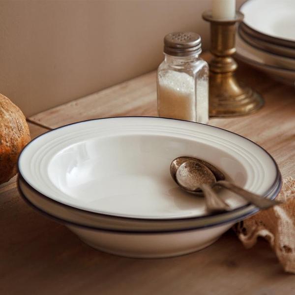 盤子菜盤家用餐盤北歐牛排盤西餐盤陶瓷盤子早餐盤湯盤【輕奢時代】