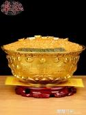 純銅聚寶盆擺件招財風水銅盆客廳店鋪裝飾工藝品開業禮品露露日記