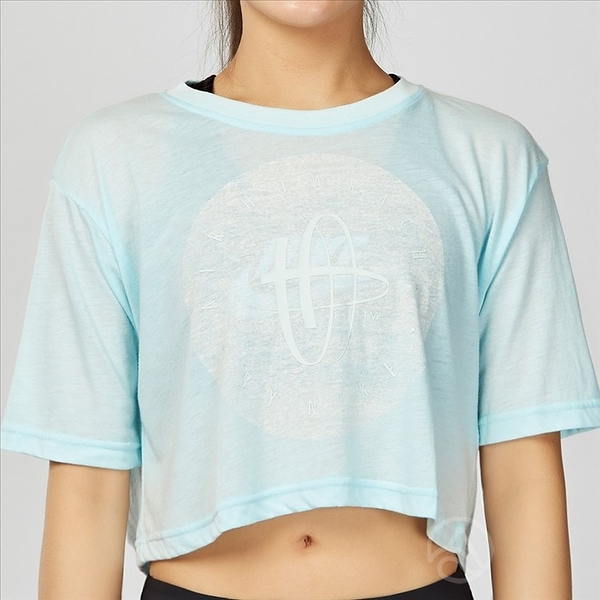 Nike Sportswear Tee Huarache 女子 淺藍 短版 休閒 短袖上衣 846467-411