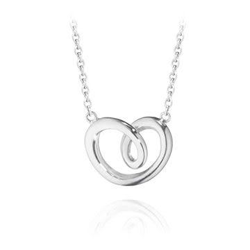 Georg Jensen Jewellery Hearts of Georg Jensen 603A 心型系列, 鏤空愛心 純銀項鍊 小尺寸『加贈 拭銀布兩份』