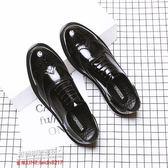 休閒皮鞋商務皮鞋春季布洛克皮鞋男士英倫潮鞋內增高韓版商務雕花正裝休閑黑色婚鞋