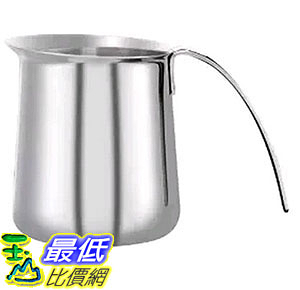 [105美國直購] KRUPS XS5012 不鏽鋼 奶泡壺 奶泡杯 Stainless Steel Milk Frothing Pitcher, 12-Ounce