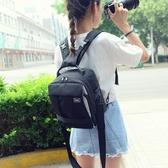 小型雙肩攝影包佳能單眼相機包5D2 700D 760D80D尼康單反背包男女   LannaS