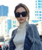 韓版新款超大框墨鏡復古大方框時尚男女太陽眼鏡潮女【居享優品】