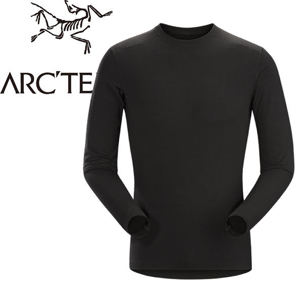 【ARC TERYX 始祖鳥 男款 Satoro AR羊毛內層圓領衫《黑》】16270/保暖衣/內層衣/羊毛衣★滿額送