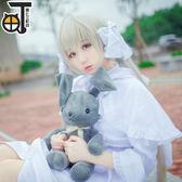 緣之空cosplay春日野穹妹cos服裝兔耳洋裝動漫日常  SMY12568【KIKIKOKO】