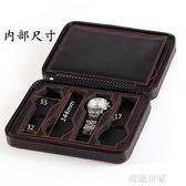 碳纖維簡約2 4 8位拉鏈手錶首飾收納包 PU便攜式旅行名錶盒展示箱『潮流世家』