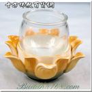 防風玻璃杯(圓)&橙瓷蓮座【 十方佛教文物】