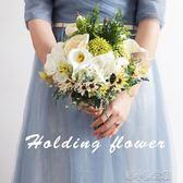 森繫新娘仿真手捧花綠植結婚花束婚紗影樓旅拍拍照攝影 『洛小仙女鞋』
