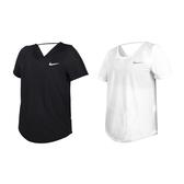 NIKE 女短袖T恤(Dri-FIT 慢跑 路跑 訓練 透氣 健身 運動 網眼 上衣 免運 ≡排汗專家≡