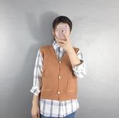 V領馬甲女秋季新款口袋背心新款韓版百搭針織衫短款休閒外套   極有家