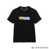 【GIORDANO】男裝Distance印花T恤 - 11 標誌黑