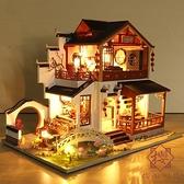 古風木質diy小屋手工制作古代房子建筑模型材料雙層【櫻田川島】