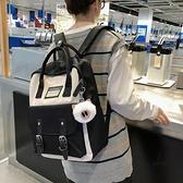 後背包百搭手提背包可裝14寸電腦書包女【愛物及屋】
