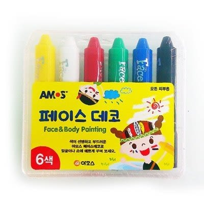 韓國AMOS彩繪水蠟筆6色