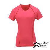 PolarStar 女 排汗快乾T恤『桃粉紅』P17130 吸濕排汗透氣T-shirt短袖運動服瑜珈休閒服短袖透氣運動服